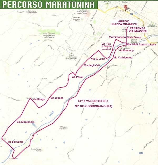 40a Corri con l'Avis, mezza maratona di Imola Percorso