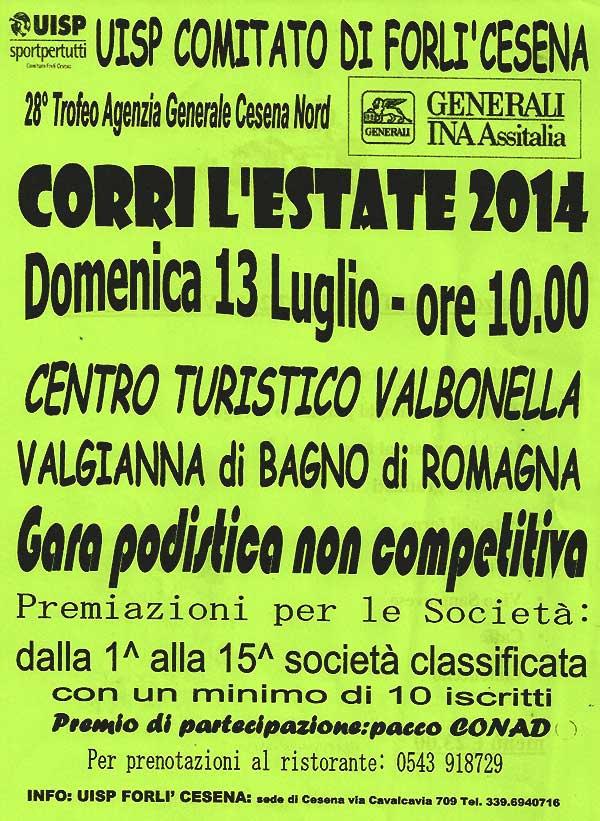 Locandine valgianna di bagno di romagna fc podistica centro turistico valbonella 2014 - Valbonella bagno di romagna ...
