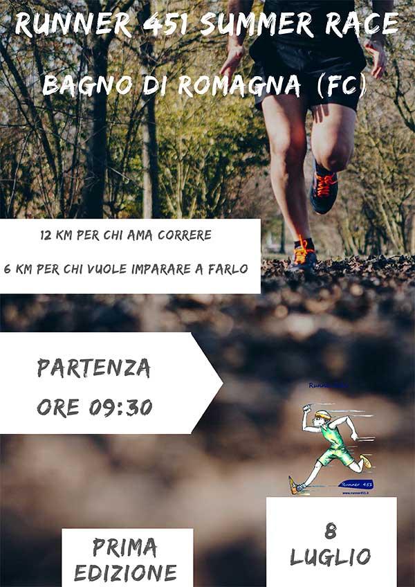 Locandine - Bagno di Romagna (FC) - 1° Runner 451 Summer Race 2018