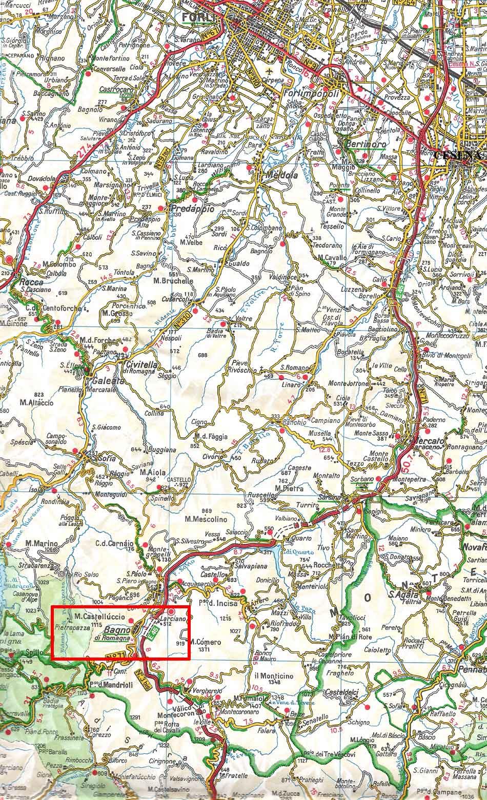 Varie - Mappe - BAGNO DI ROMAGNA (FC)