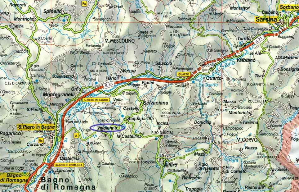 Varie - Mappe - VALGIANNA (Bagno di Romagna - FC)