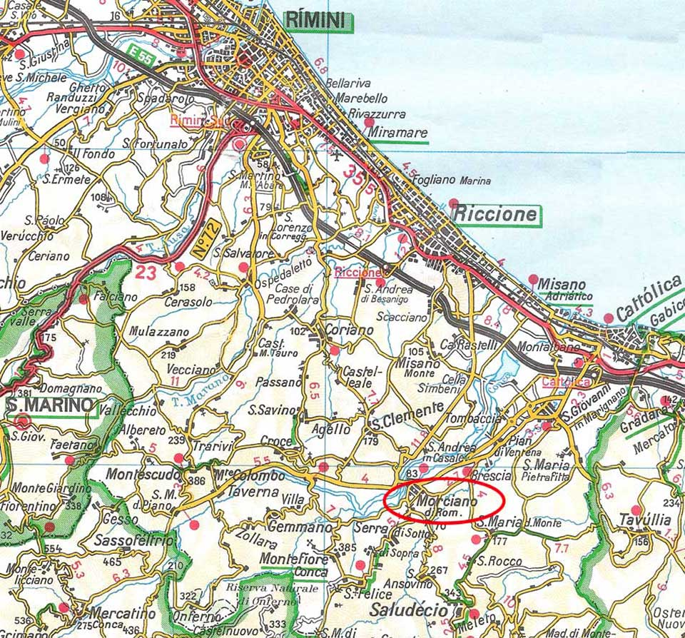 Varie - Mappe - MORCIANO di Romagna (RN)