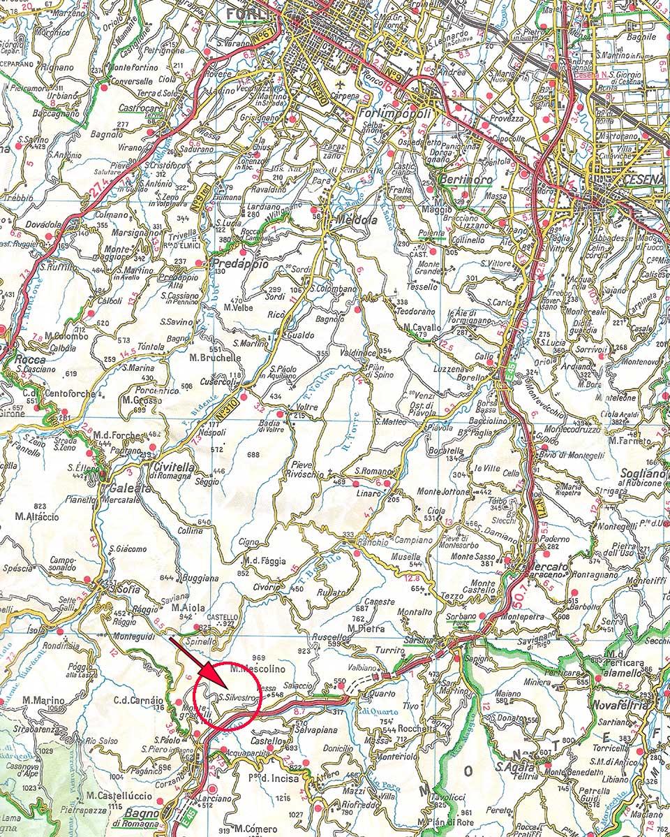 Varie - Mappe - SAN SILVESTRO (Bagno di Romagna - FC)