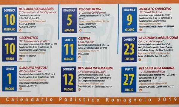 Calendario Camion 2019.Altri Calendari 43 Calendario Podistico Romagnolo 2019