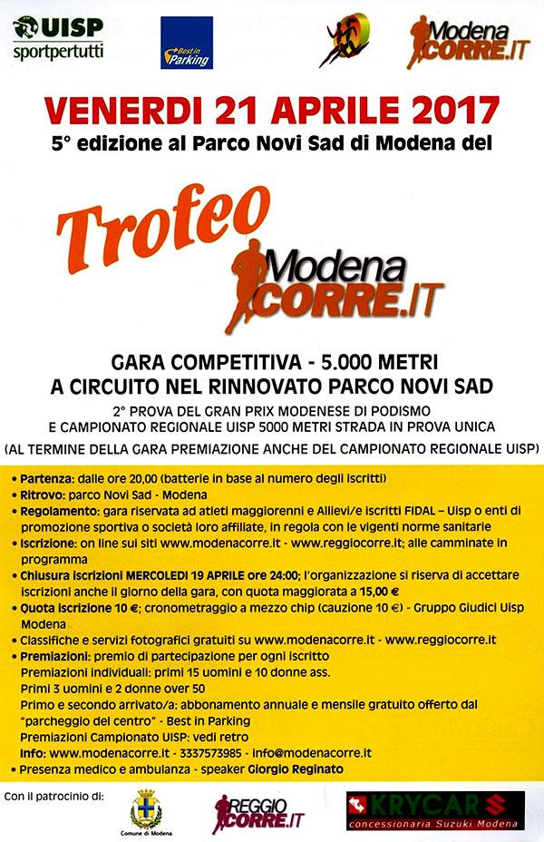 Modenacorre Calendario.Locandine Modena Mo 5 Trofeo Modenacorre It 2017