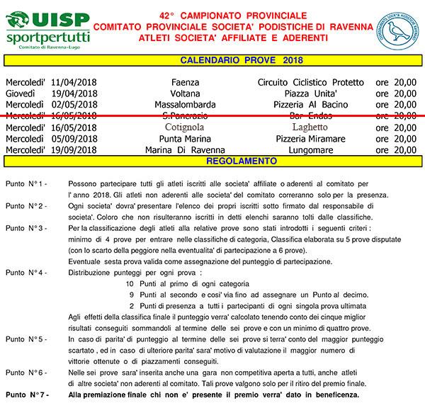 Atleti Calendario.Altri Calendari 42 Campionato Provinciale Atleti Societa
