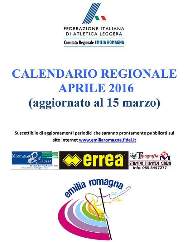 Fidal It Calendario.Altri Calendari Fidal Emilia E Romagna Calendario