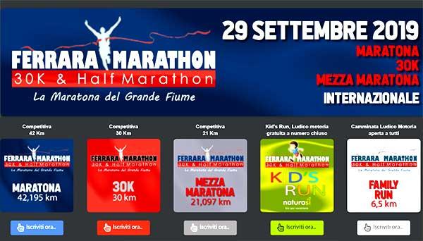 Calendario Maratone Internazionali.Locandine Ferrara Fe 46a Ferrara Marathon 2019