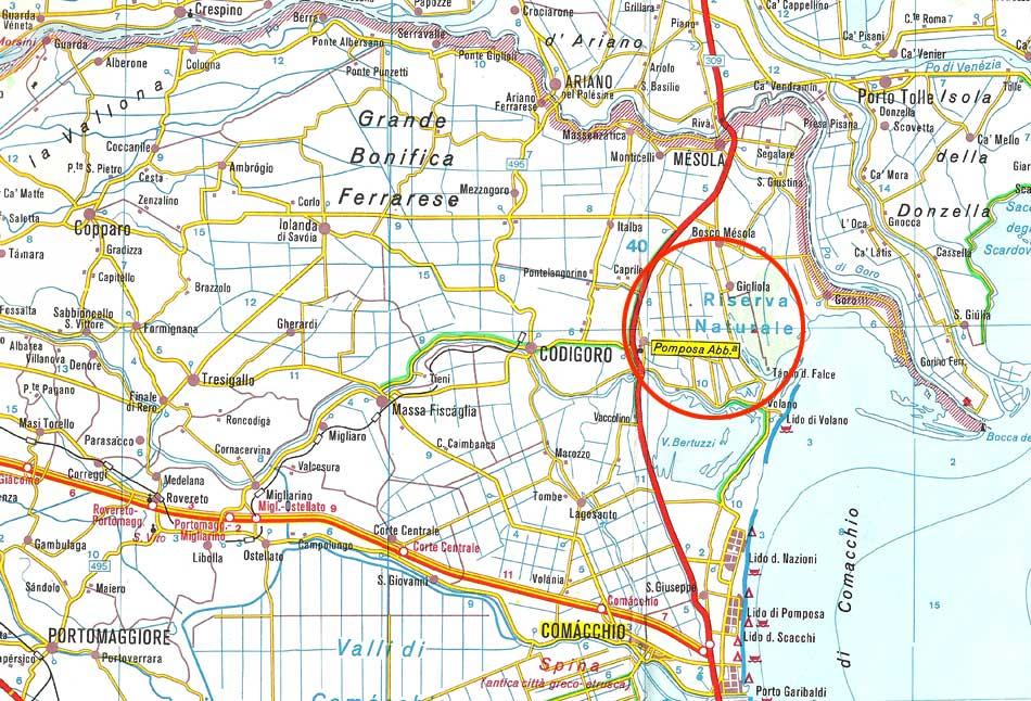 Varie Mappe Abbazia di Pomposa (Codigoro FE)