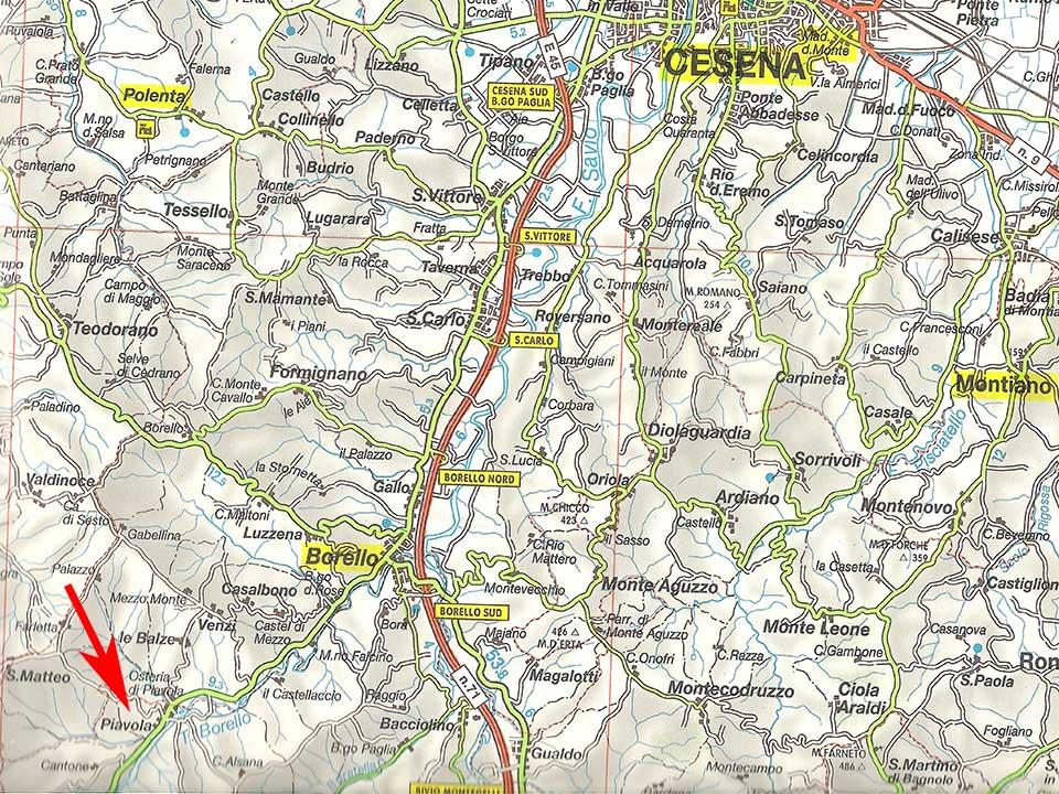 Piavolamercato Varie Saraceno Piavolamercato Saraceno Fc Varie Mappe Mappe PXOZTwkiul